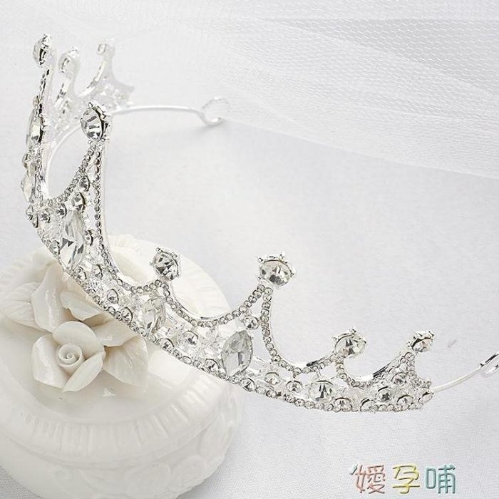 《全館免運》兒童皇冠女童生日公主皇冠兒童發飾簡約百搭 【FOLLOW ME】