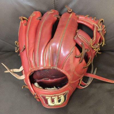 二手 日製 Wilson 威爾森 工字檔 硬式手套 一壘手套 棒球手套 棒壘手套 壘球手套 內野手套 外野手套