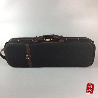 高檔雙面鼓小提琴盒4 4 雙單肩背手提防水抗壓出口質[頌音坊41544]