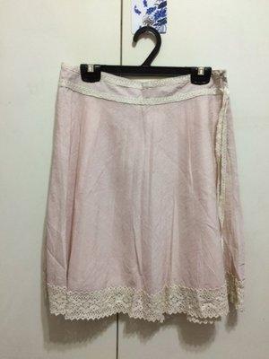 ❤夏莎shasa❤全新專櫃品牌粉嫩色蕾絲氣質及膝裙/上班族必備/1元起標
