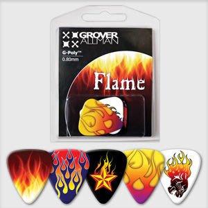 ☆ 唐尼樂器︵☆澳洲製 Grover Allman 主題系列『Flame』烏克麗麗/木吉他/電吉他 Pick 彈片
