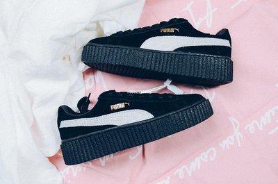 Puma Suede Creepers- 黑白 百搭 鬆糕厚底 滑板鞋 361005-01 女鞋