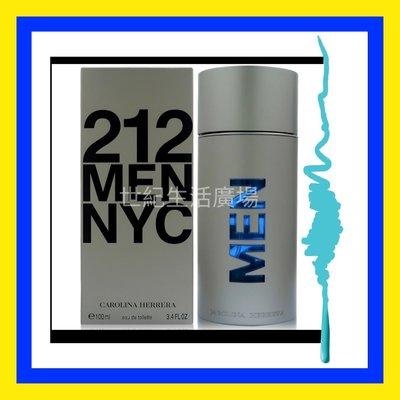 [世紀香水廣場] Carolina Herrera 212 都會男性香水 100ml