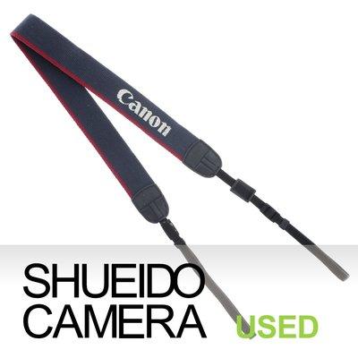 集英堂写真機【1個月保固】實用品 CANON 原廠 EOS 字樣 相機背帶 藍色 紅色 5D3 6D2 適用 14345