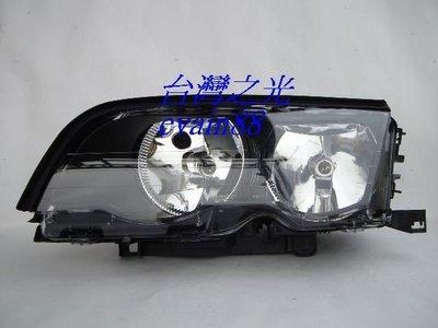 《※台灣之光※》全新BMW 寶馬E46 2門 CI 98 99 00 01年高品質原廠樣式黑框大燈台灣製 彰化縣