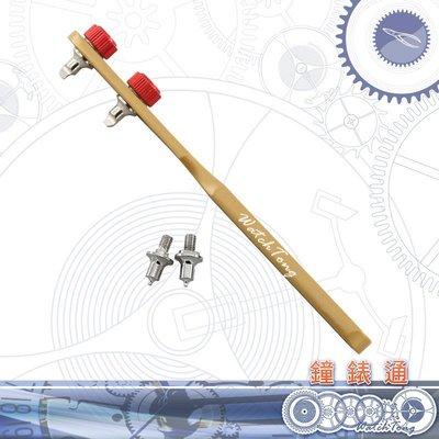 【鐘錶通】07B.2901 優質金色加大兩腳開錶器-圓嘴+方嘴 雙組合盒裝/可開16~55mm 後蓋├ 旋轉開錶工具 ┤