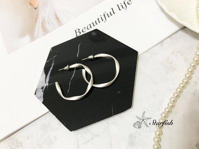 【海星 Starfish】|925銀針|韓風百搭款C字耳環