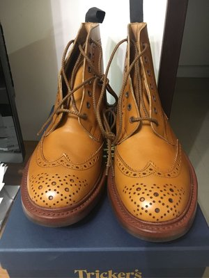 Tricker's Trickers Stow Brogue Boots UK 9.5 雕花 牛津靴 全新品