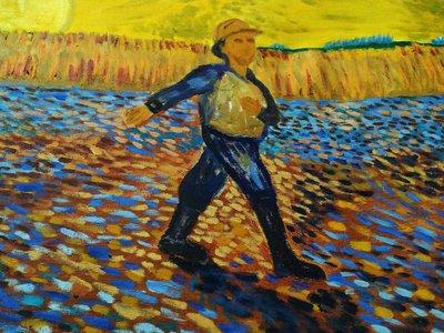 (特價)  【台灣人珍瓊-200802】A peasant walking in the field at sunset