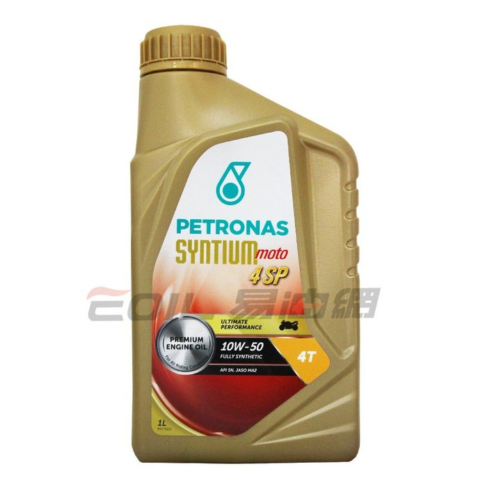 【易油網】PETRONAS 10W50 全合成機油 MOTO 4 SP 10W-50 ENI Mobil