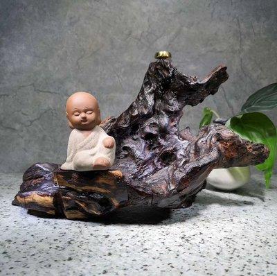 越南黃花梨 油梨老料- 倒流香 擺件  - 風化料 盡顯大自然鬼斧神工 收藏孤品  LH 8