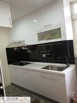 【雅格廚櫃】工廠直營~一字型廚櫃、流理台、廚具、結晶鋼烤、林內二機