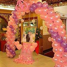 飛倫禮品批發-批發倉庫/婚禮佈置/10吋粉紅色.紅色亮面圓形氣球/全面市價67折/1元9角