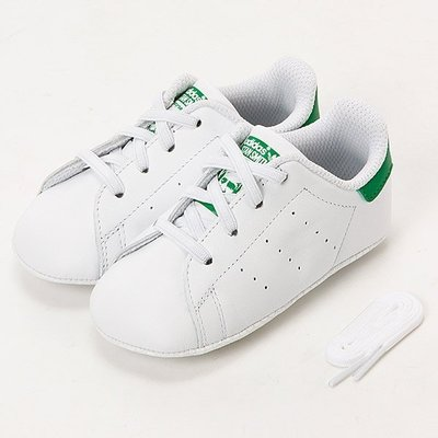 =CodE= ADIDAS ORIGINALS STAN SMITH CRIB 皮革學步鞋(白綠)B24101 小童嬰兒