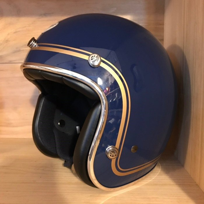(I LOVE 樂多) 最新二代 Chief Helmet Ticuna系列 3/4 安全帽 (深藍)