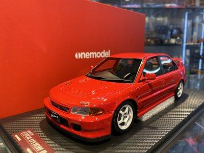 吉華科技@OneModel Mitsubishi Lancer EVO II  紅色 1/18