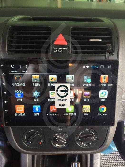 Volkswagen 福斯 GOLF -10吋安卓機.Android.觸控螢幕usb.導航.網路電視.公司貨保固一年