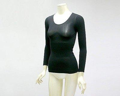 日系 ~一體成型~無縫3D彈力~托胸束腰平腹緊臂纖體保暖~超薄~保暖衛生衣