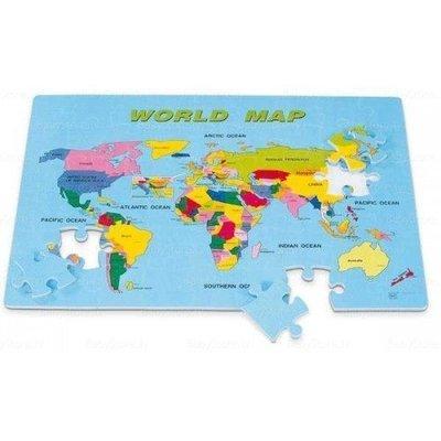 (明珍) 拼裝地墊 英語世界地圖地墊 54片入裝 10*10*1.2cm (外銷A品) 力波墊.巧拼墊.遊戲墊 彰化縣