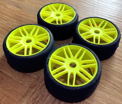 【 E Fly 】RC GRP Tyres Slick 系列 1/8 房車光頭胎 熱融胎 GTY02-S3 遙控車 輪胎