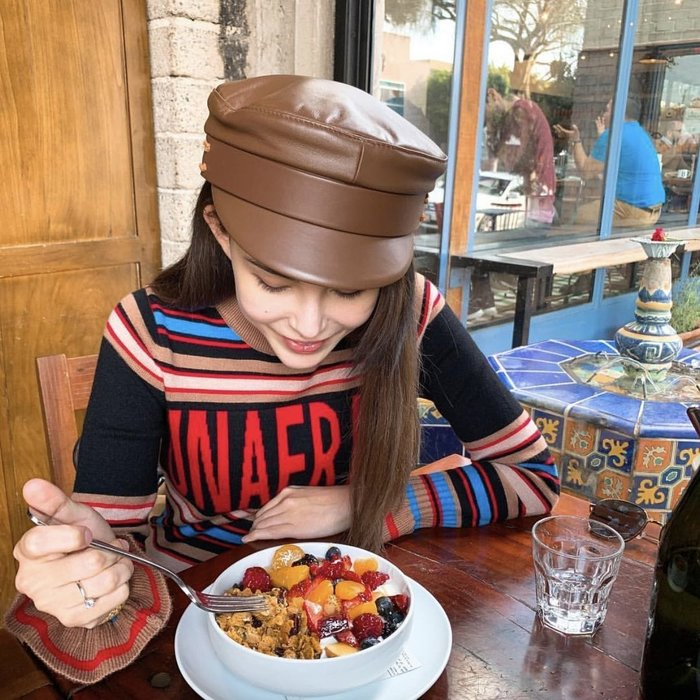CC Collection 代購 Ruslan Baginskiy 經典棕色真皮報童帽