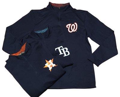 Genuine Merchandise 大聯盟 mlb  練習 棒球 壘球 排汗 長袖 外套 熱身 立領
