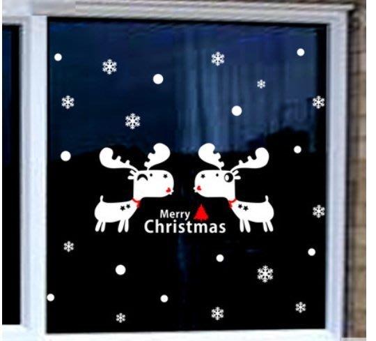 小妮子的家@聖誕小鹿壁貼/牆貼/玻璃貼/磁磚貼/汽車貼/家具貼