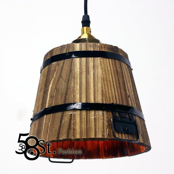 【58街】義大利設計師款式「木桶吊燈」美術燈。複刻版。GH-396