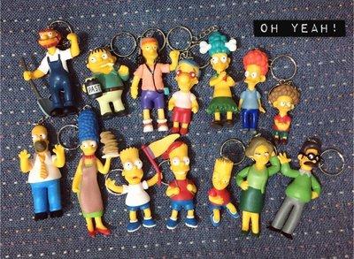 The Simpsons 辛普森家庭 鑰匙圈 人偶造型鑰匙圈鎖圈吊飾 公仔