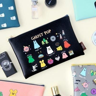 好心情日韓正品雜貨『韓國 GMZ 』幽靈系列化妝包 小物品收納袋 M