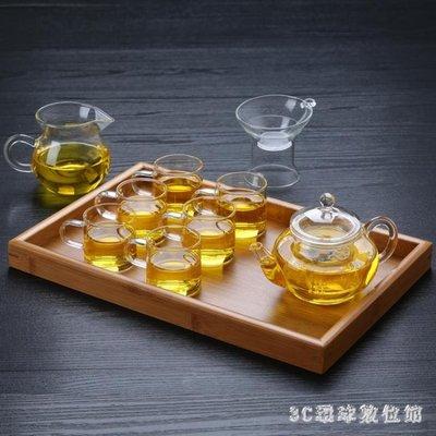 (免運)耐熱玻璃小茶壺套裝功夫茶茶 具整套玻璃過濾紅茶泡茶壺茶杯組合【莉芙小鋪】