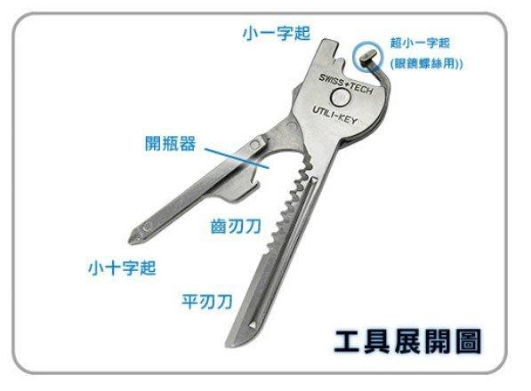SWISS+TECH utili-key 多功能鑰匙扣 6合一迷你小刀