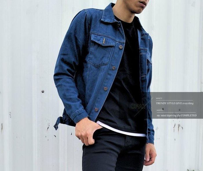 型男必備款 韓版春夏修身 牛仔外套 深藍牛仔外套 單寧色外套  百搭外套 外套【MC33】