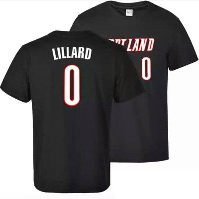 💖里拉德Damian Lillard短袖T恤上衣💖NBA拓荒者隊Nike耐克愛迪達運動籃球衣服T-shirt男603