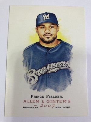 Prince Fielder #290 2007 Topps Allen & Ginters