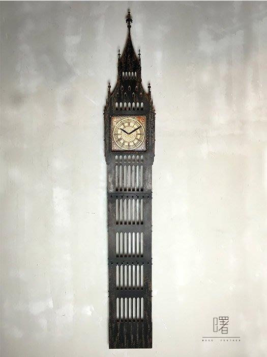 【曙muse】北歐復古直式掛鐘 造型掛鐘 附有吊鉤可掛小物品 裝飾品  loft 工業風 咖啡廳 民宿 餐廳 住家