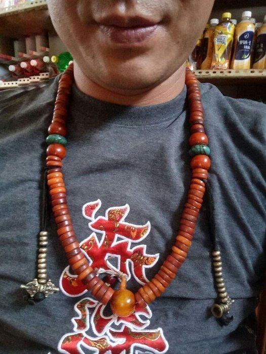 【弘慧堂】 西藏老靈骨108顆念珠手串手鏈切片西藏佛珠桶珠項鏈藏式