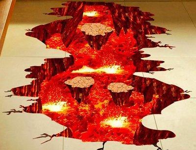 [808 MAGIC] 魔術道具 3D貼紙-岩漿款 拼好尺寸60*90cm