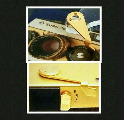 罕有經典绝版:Rollei 35纪念版金相機零件 (原裝金色上菲林手柄)(绝版歲月收藏品)