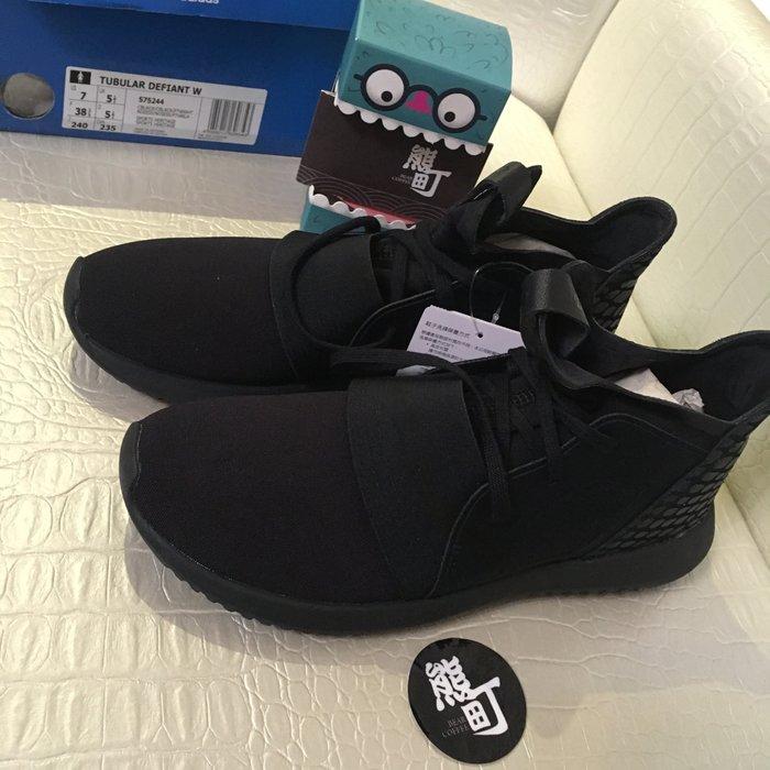 台灣公司貨  ADIDAS ORIGINALS TUBULAR DEFIANT S75244 全黑 武士 忍者鞋 慢跑鞋