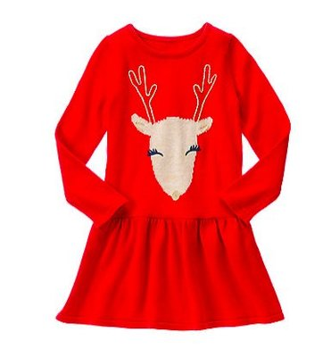 二手正品 --- gymboree 紅色馴鹿洋裝 --- 7Y