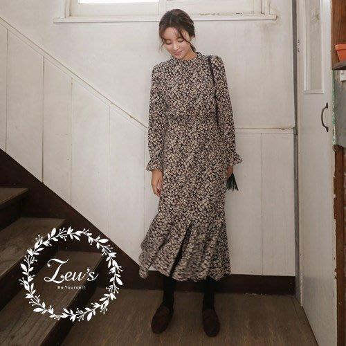 【ZEU'S】韓國新款小氣質秀氣洋裝『 12017844 』【現+預】L