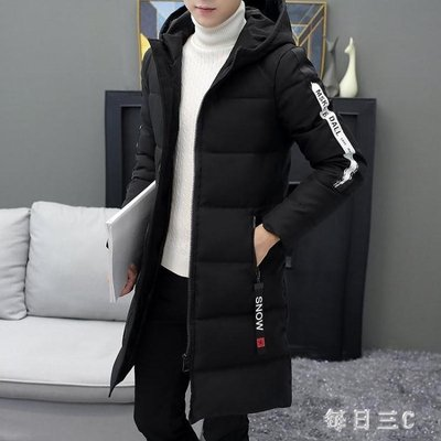 長版羽絨棉服男冬季外套潮流棉襖男士 qw1755