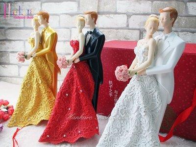 ☆[Hankaro]☆ 婚慶系列商品玫瑰之戀精緻浪漫婚禮人型擺飾新婚禮品