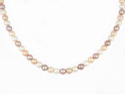 【久大御典品】天然珍珠項鍊 9.5mm 多色珍珠*47粒 淡水珠 純天然無處理 超美【商品編號:YC08329-8】