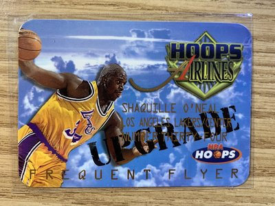 1997-98 Hoops Frequent Flyer Upgrade ~ Shaquille O'neal