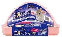 【阿肥寵物生活】GEX 兔子厕所三角形 粉红色