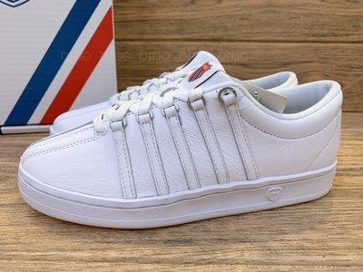 DIBO 弟寶-K SWISS the classic 經典休閒 運動鞋 女鞋(全白-真皮)kswiss 小白鞋