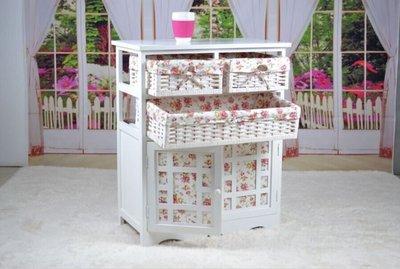 窩美(田園鄉村風)아기寶寶衣服收納衣櫃實木臥室多功能儲物櫃로커