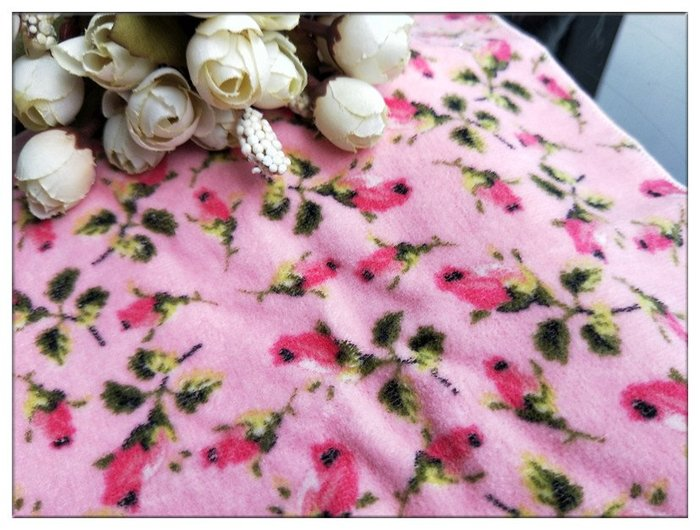 瑰森林-- ☆°* 外貿出口單 浪漫玫瑰花苞印花 細絨棉感 小方巾 手巾 手帕 小毛巾(特價)粉色底